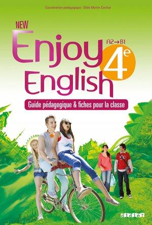 New Enjoy English 4e : Guide Pédagogiquer et Fiches pour la Classe - Didier - 9782278079308 -