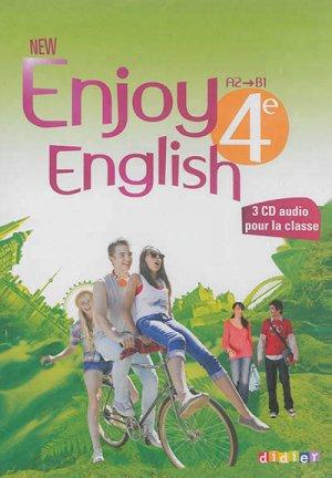 New Enjoy English 4e : Coffret pour la Classe 3 CD Audio et 1 DVD - Didier - 9782278079599 -