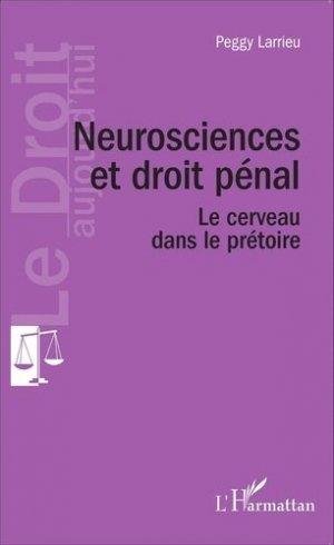 Neuroscience et droit pénal - l'harmattan - 9782343063836