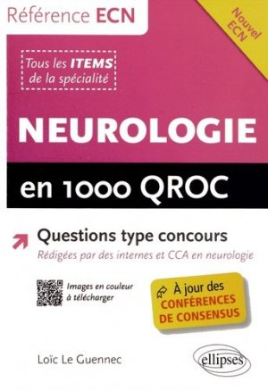 Neurologie en 1000 QROC - ellipses - 9782729884178 -