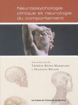 Neuropsychologie clinique et neurologie du comportement - presses de l'universite de montréal - 9782760619463 -