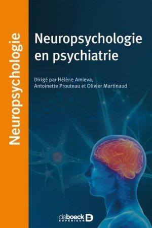 Neuropsychologie en psychiatrie - de boeck - 9782807327184 -