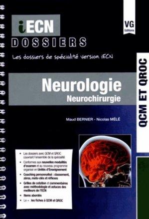 Neurologie Neurochirurgie - vernazobres grego - 9782818312827 -