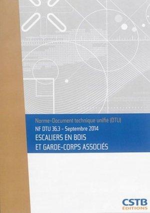 NF DTU 36.3 Escaliers en bois et garde-corps associés - cstb - 3260050851534 -