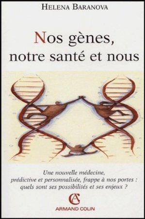Nos gènes, notre santé et nous - armand colin - 9782200267537 -