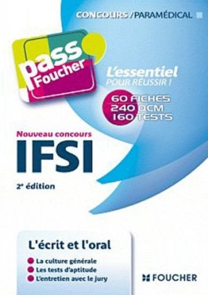 Nouveau concours IFSI - foucher - 9782216117369 -