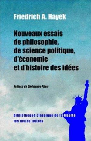 Nouveaux essais de philosophie, de science politique, d'économie et d'histoire des idées - les belles lettres - 9782251390475 -
