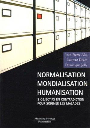 Normalisation mondialisation humanisation - lavoisier msp - 9782257108807 -