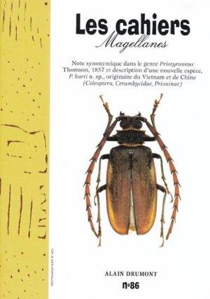 Note synonymique dans le genre Priotyrannus Thomson, 1857 et description d'une nouvelle espèce, P. hueti n. sp., originaire du Vietnam et de Chine - magellanes - 9782353870363 -