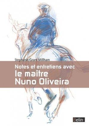 Notes et entretiens avec le maître Nuno Oliveira - belin - 9782701191805 -