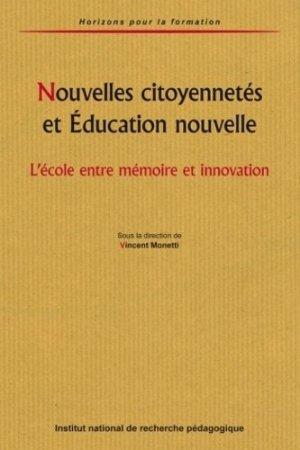 Nouvelles citoyennetés et Education nouvelle - INRP - 9782734209942 -