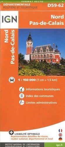 Nord Pas-de-Calais. 1/150 000 - Institut Géographique National - 9782758544395 -