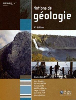 Notions de géologie - modulo (canada) - 9782896504701 -