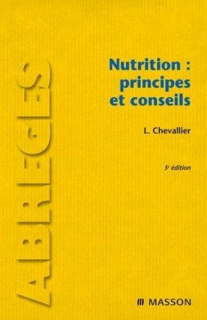 Nutrition : principes et conseils - elsevier / masson - 9782294708176