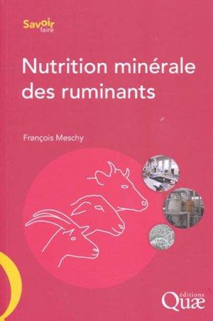 Nutrition minérale des ruminants - quae  - 9782759205080