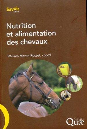 Nutrition et alimentation des chevaux - quae  - 9782759216680 -