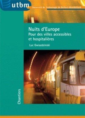 Nuits d'Europe - utbm - 9782914279291 -