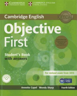 Objective First - Student's Book Pack (Student's Book with Answers with CD-ROM and Class Audio CDs(2)) - cambridge - 9781107628472 -