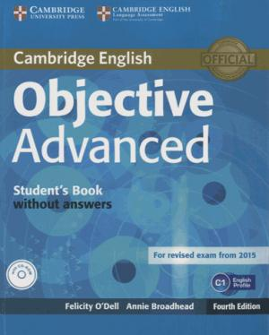 Objective Advanced - Student's Book without Answers with CD-ROM - cambridge - 9781107674387 -