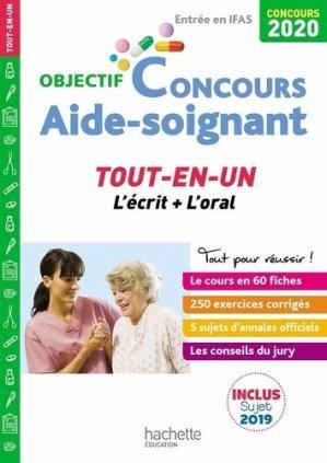 Objectif Concours 2020 Aide-Soignant : tout-en-un - hachette - 9782017111375 -