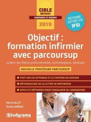Objectif : formation infirmier avec Parcoursup - studyrama - 9782759039586 -