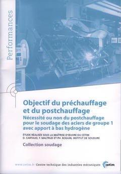 Objectif du préchauffage et du post- chauffage - cetim - 9782854006605 -