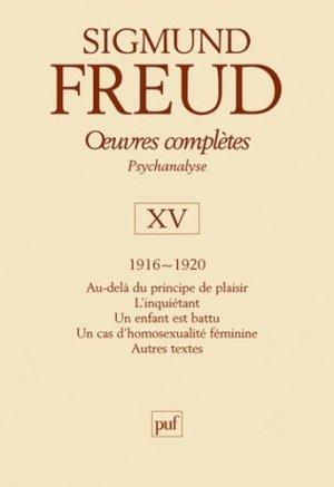 Oeuvres complètes Psychanalyse. Volume 15, 1916-1920 - puf - presses universitaires de france - 9782130530800 -