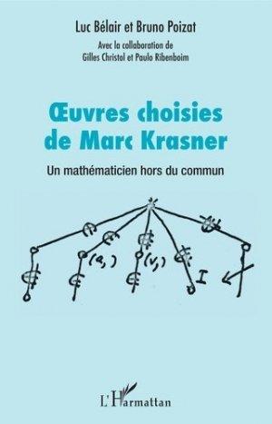 Oeuvres choisies de Marc Krasner - l'harmattan - 9782343165738 -
