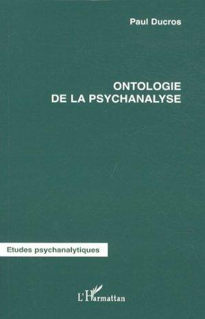 Ontologie de la psychanalyse - l'harmattan - 9782296070288 -