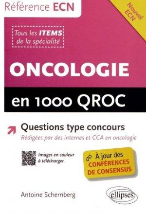 Oncologie en 1000 QROC - ellipses - 9782729884154 -