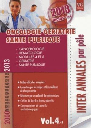 Oncologie - Gériatrie - Santé publique Vol.4/5 - vernazobres grego - 9782818311769 -