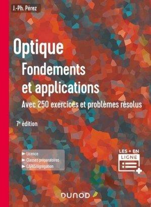 Optique : Fondements et applications - 7e éd - dunod - 9782100807833 -