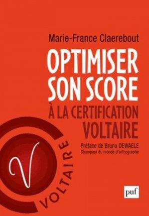Optimiser son score à la certification Voltaire - puf - presses universitaires de france - 9782130619673 -