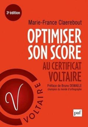 Optimiser son score au Certificat Voltaire - puf - presses universitaires de france - 9782130817819 -
