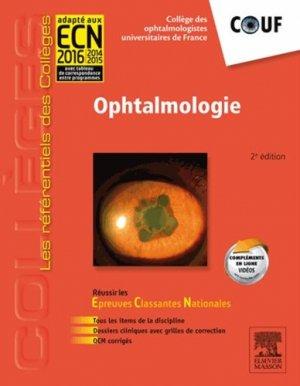 Ophtalmologie - elsevier / masson - 9782294724329 -