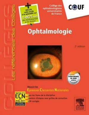 Ophtalmologie - elsevier / masson - 9782294745553 -