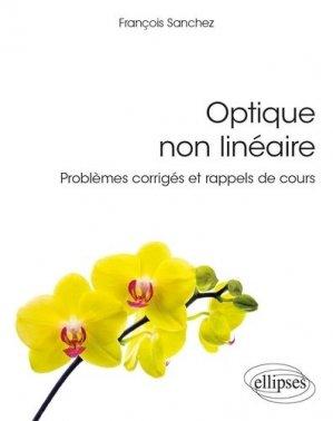 Optique non linéaire - ellipses - 9782340036659 -