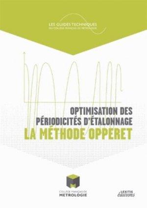 Optimisation des périodicités d'étalonnage : la méthode Opperet - lexitis - 9782362331251 -