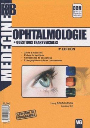 Ophtalmologie - Questions transversales - vernazobres grego - 9782818300763 -