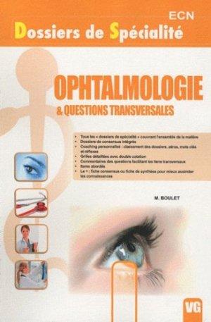 Ophtalmologie & questions transversales - vernazobres grego - 9782818302019 -