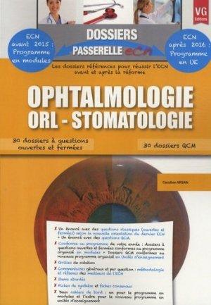 Ophtalmologie ORL Stomatologie - vernazobres grego - 9782818310311 -