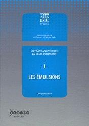 Opérations unitaires en génie biologique - Tome 1 - crdp d'aquitaine - 9782866175948 -
