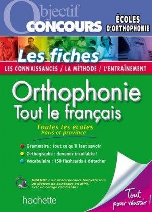 Orthophonie - hachette - 9782011712684 -