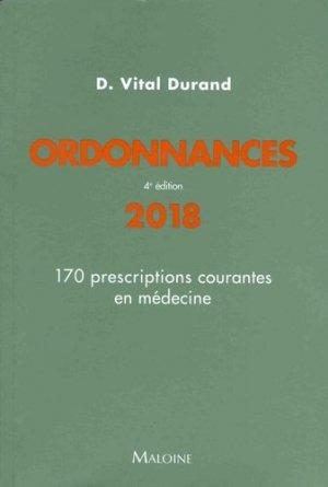 Ordonnances 2018 - maloine - 9782224035099 -