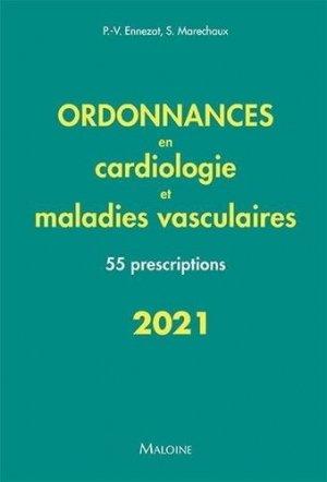 ordonnances en cardiologie et maladies vasculaires 2021 - maloine - 9782224035976 -