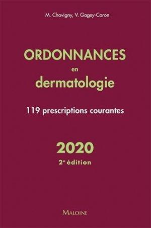 Ordonnances en dermatologie 2020 - maloine - 9782224036096 -