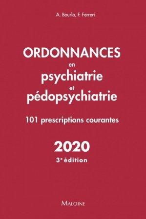 Ordonnances en psychiatrie et pédopsychiatrie 2020 - maloine - 9782224036133 -