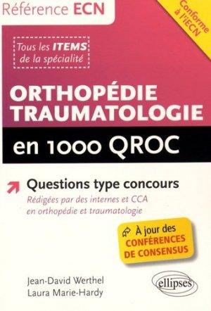 Orthopédie traumatologie en 1000 QROC - ellipses - 9782340008434 -