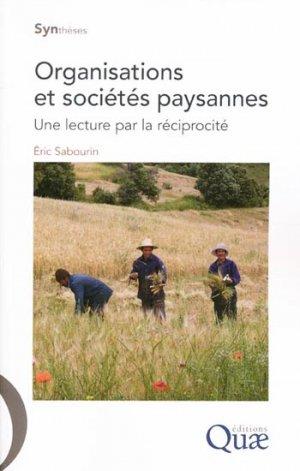 Organisations et sociétés paysannes - quae  - 9782759218486 -