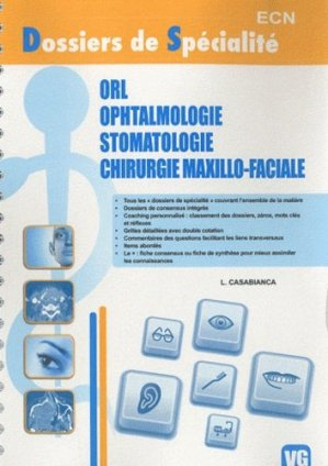 ORL - Ophtalmologie - Stomatologie - Chirurgie maxillo-faciale - vernazobres grego - 9782818301890 -